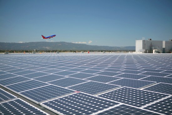 airport solar panels