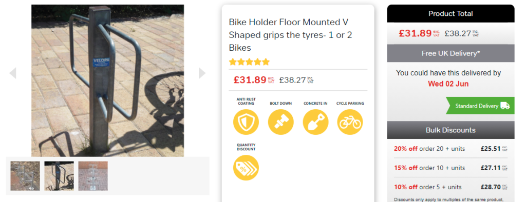 floor mounted bicycle fixture