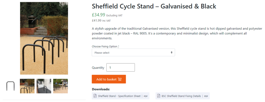 Sheffield bicycle stand